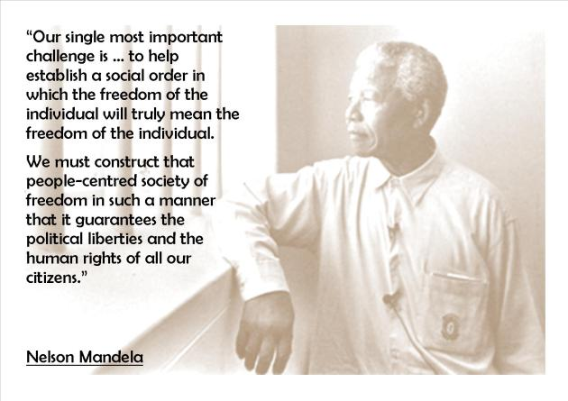 Mandela Inspiration: People-centred society of freedom