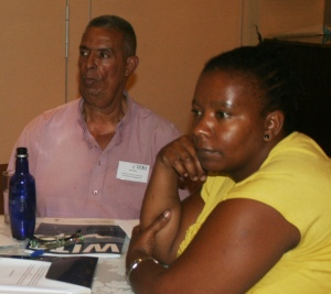 Ivan Evans and Nkosingiphile Mafuze-Sijora of Nicro participated in the dialogue. (Photo: Hazel Meda)