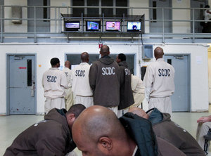 Inmates at Lee Correctional Institution in South Carolina, (Photo: Tim Dominick for The State)