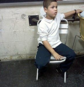 Seven-year-old Wilson Reyes, who was detained after allegedly stealing $5 at school. (Photo: Daily Mail)
