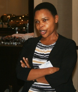 Winnie Kubayi of NADCAO  discusses a successful community paralegal programme in KwaZulu-Natal. (Photo: Hazel Meda)