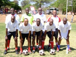 The Footballers 4 Life coaches (Photo: Enrico Bhana)