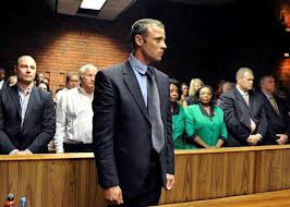 Oscar Pistorius at his bail hearing earlier this year. (Photo: News 24)