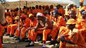 Inmates at Lospersfontein prison, where there was a jailbreak on Monday night. (Photo: Blogs.Litnet.co.za)
