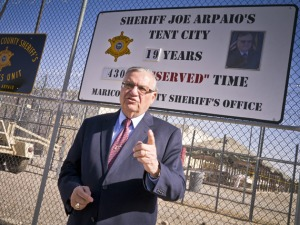 "Joe Arpaio, the warden of ""Tent City"", one of America's worst prisons, according to a recent article. (Photo: Jack Kurtz for ZumaPress.com)"