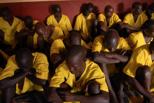 Uganda's Lira Prison was said to be at 420% of capacity in March 2010. (Photo: Lynsey Addario for Human Rights Watch)