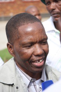 Mokoena as he walks out of Kroonstad prison 2011 (Photo: Wits Justice Project)