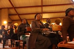 Community members gather in St. Charles Lwanga Catholic Church in Orange Farm (photograph by Mfuneko Toyana)
