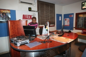 Producing an upcoming advert for KFC on Alex FM