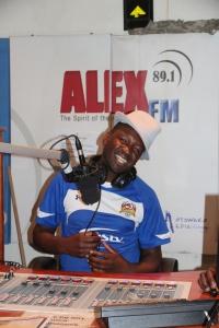Alex FM Sales Manager, Umbrella Masaba in studio