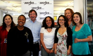The Wits Justice Project team: Carolyn Raphaely, Palesa 'Deejay' Manaleng, Paul McNally, Nooshin Erfani-Ghadimi, Kyla Herrmannsen, Ruth Hopkins and Robyn Leslie.