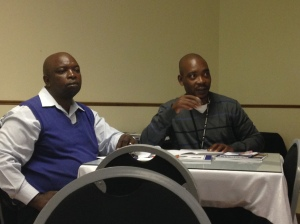 Bricks Mokolo and Jacob Sebidi take part in roundtable discussion
