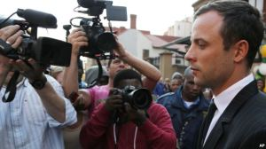 Image of Oscar Pistorius leaving the high court in Pretoria, on August 8 2014