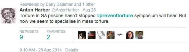 Torture symp_Anton tweet_28 Aug 2014