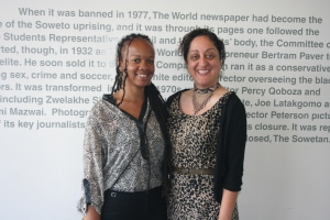 Jennifer Rae Taylor, staff attorney at the Equal Justice Initiative (left) and Nooshin Erfani-Ghadimi, project coordinator of the Wits Justice Project (right)