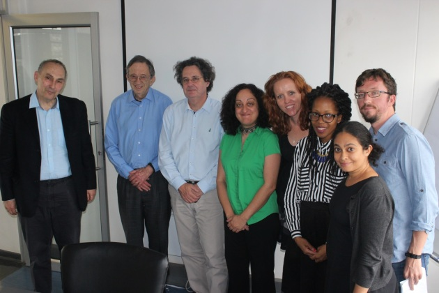 Sir Nicholas Stadlen, Lord Joel Joffe, Anton Harber with the Wits Justice Project Team.